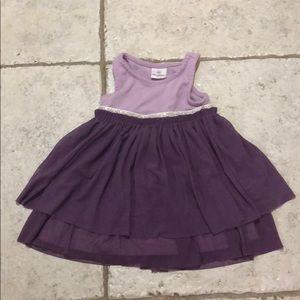Hanna Andersson girl sleeveless purple dress